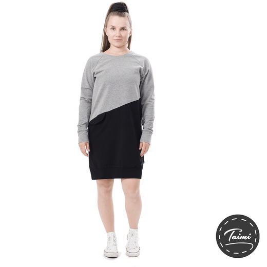 LIPPAtunic (grey/black stretch college)