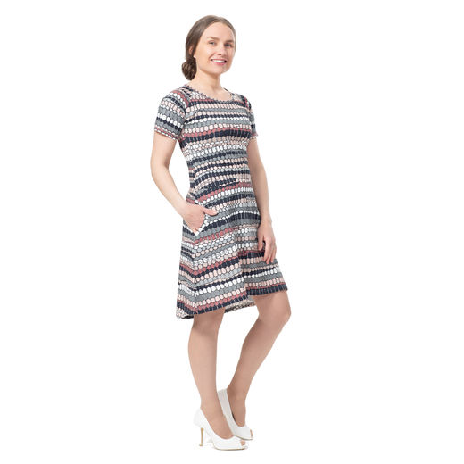 ANNAdress SS (Mummolan tuntu grey/ light pink tricot)