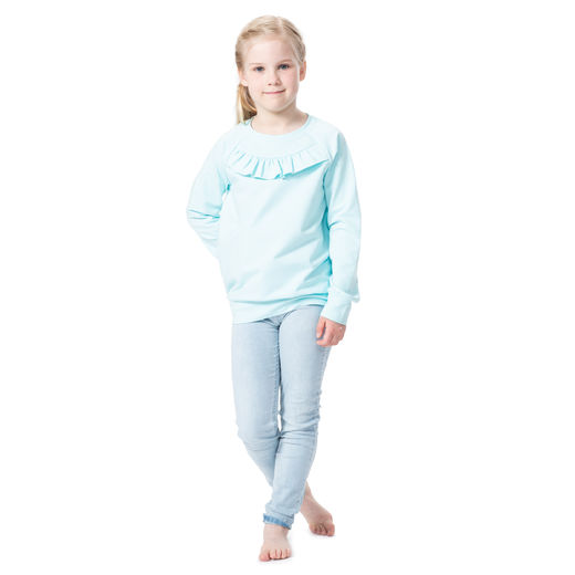 FRILLAshirt (light blue stretch college)