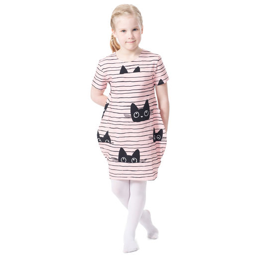 MAATUSKAdress girls SS (Kattijemma light pink/black tricot)