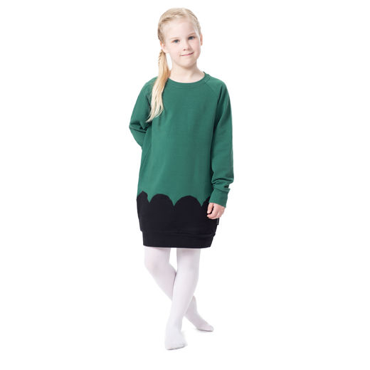 PIPARKAKKUtunic (green/black stretch college)