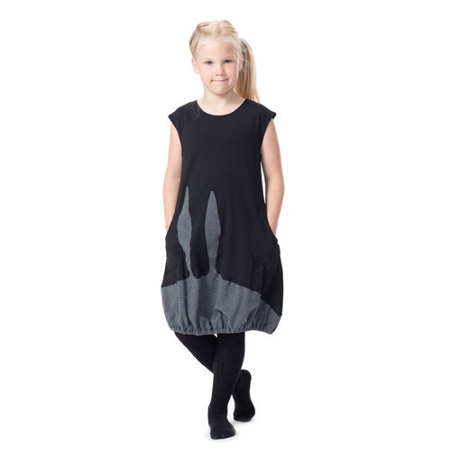 PUPUdress kids (black/grey tricot)