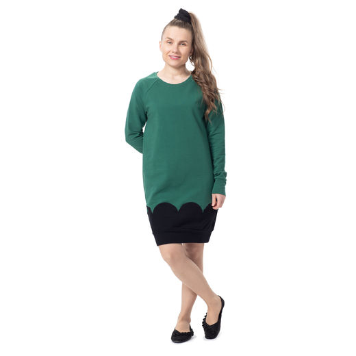PIPARKAKKUtunic raglansleeve (green/black stretch college)