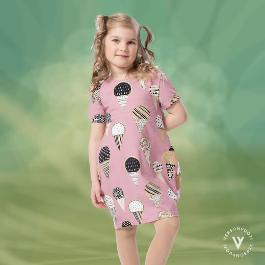 MAATUSKAdress girls SS (Tuutit pink/gold tricot)