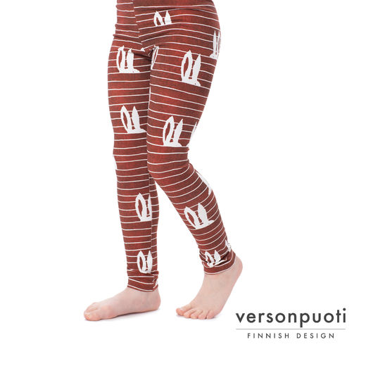 MUKAVAleggings (Pupujemma red denim effect tricot)