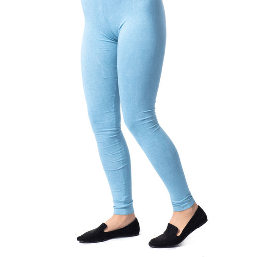 MUKAVAleggings women (Farkku light denim tricot)