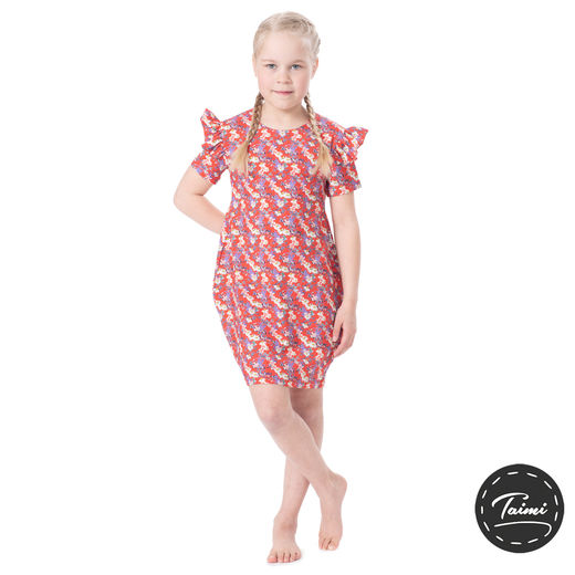 MAATUSKAdress girls SS (Punahattu red tricot)