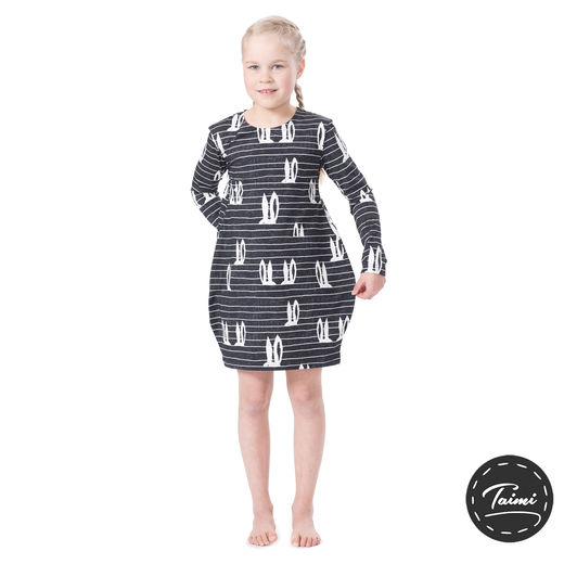 MAATUSKAdress girls (Pupujemma black/white tricot)