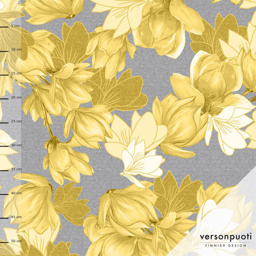 Magnolia (yellow/grey) digiprint stretch college