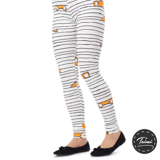 MUKAVAleggings women (Kettujemma white/black/orange tricot)