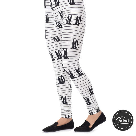 MUKAVAleggings women (Pupujemma white/black tricot)