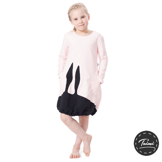 PUPUmekko kids (light pink/black stretch college)