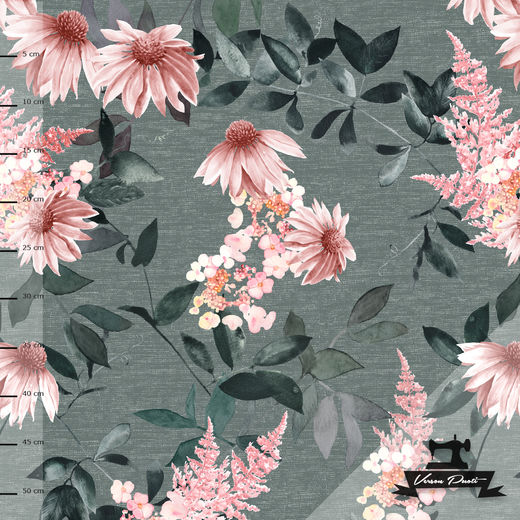 Punahattu ( grey/soft pink) digitricot