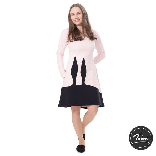 PUPUdress (light pink/black stretch college)