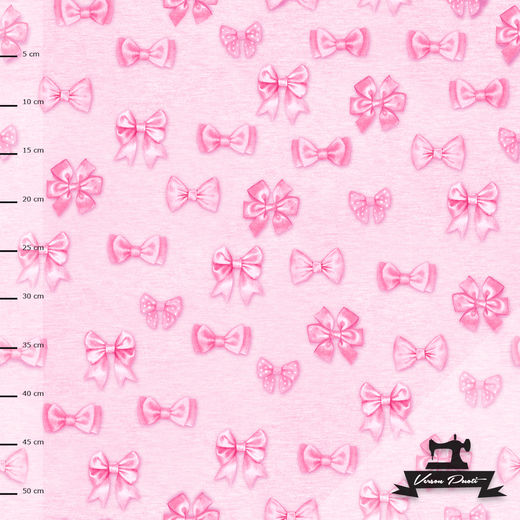 Bows (pink) digitricot