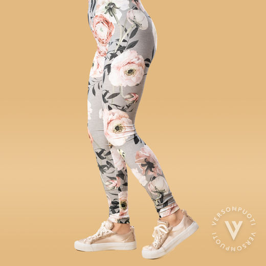 MUKAVAleggings women (Jaloleinikki grey/rose tricot)