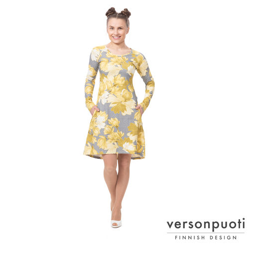ANNAdress (Magnolia yellow/grey tricot)