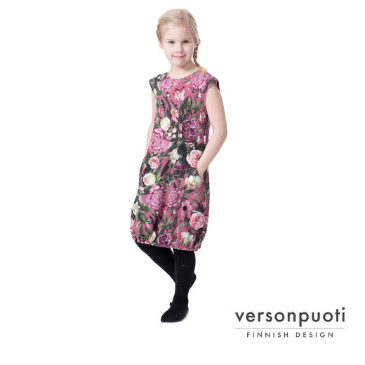 HEMMAhelledress kids (Kukkaiskylpy dusty rose tricot)