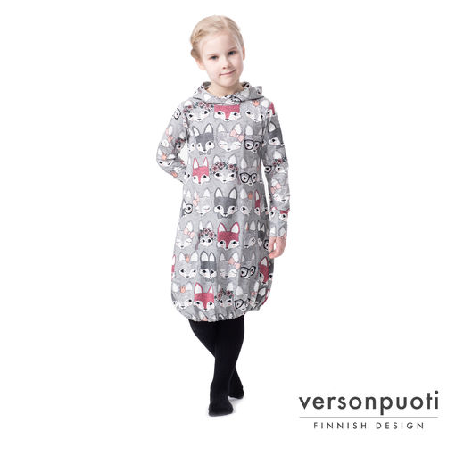 JEMMAdress girls (Kutsut grey/pink tricot)