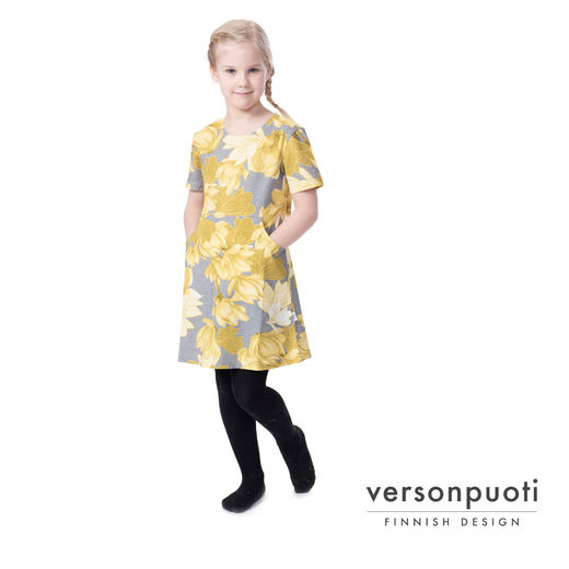 KENGURUtunic kids (Magnolia yellow/grey tricot)