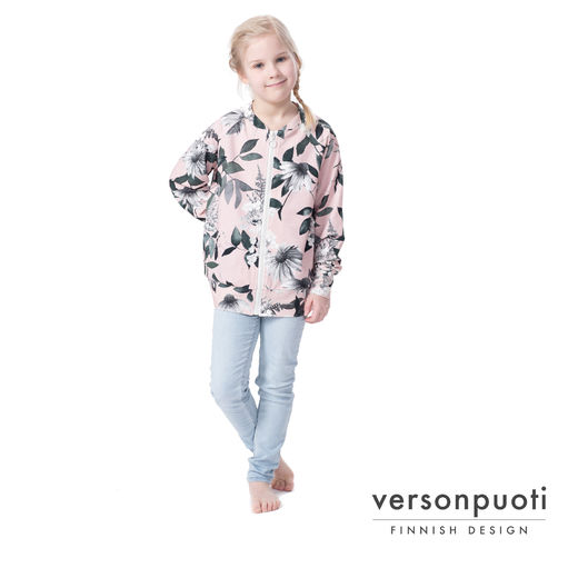 POMPPAjacket (Punahattu light pink/grey college)