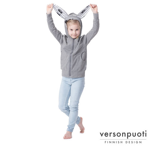 PUPUhoodie (grey melange stretch college)