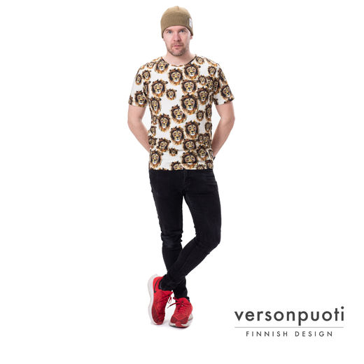 VOITTOt-shirt (Leijona white/brown tricot)