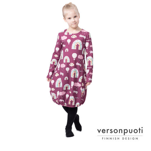 HEMMAdress kids (Sunnuntai raspberry tricot)
