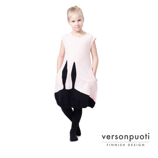 PUPUdress kids (light pink/black tricot)