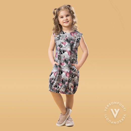 HEMMAhelledress kids (Kalat grey/pink tricot)
