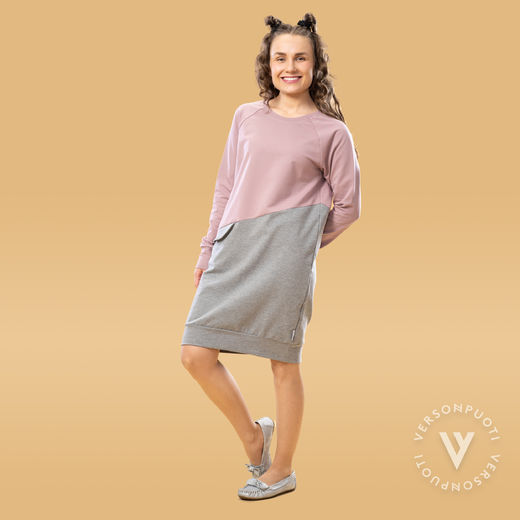 LIPPAtunic (light pink/grey stretch college)