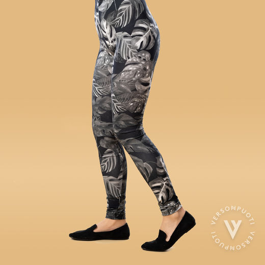 MUKAVAleggings women (Viidakko black/white tricot)