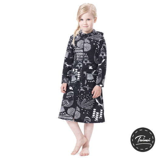 SAUNAjacket children (Sielulintu graphite stretch Terry)