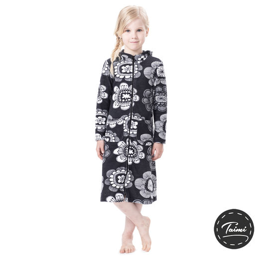 SAUNAjacket children (Paratiisin puutarha graphite stretch Terry)