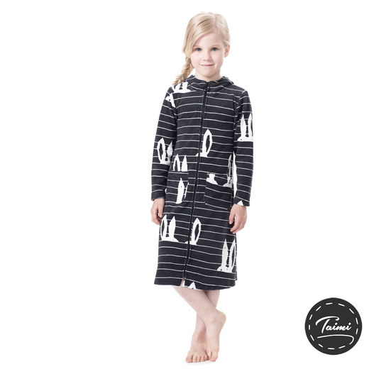 SAUNAjacket children (Pupujemma graphite stretch Terry)