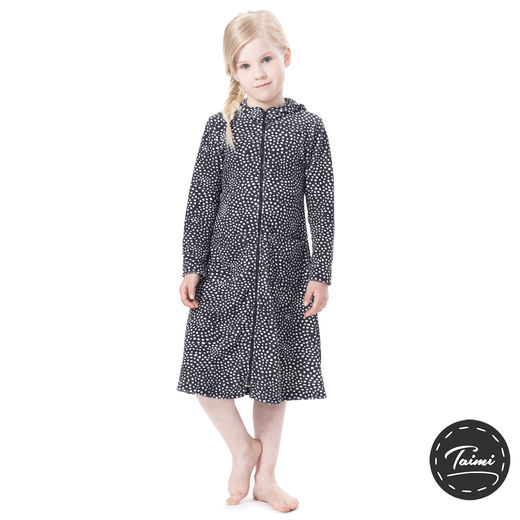 SAUNAjacket children (Paratiisin universumi graphite stretch Terry)
