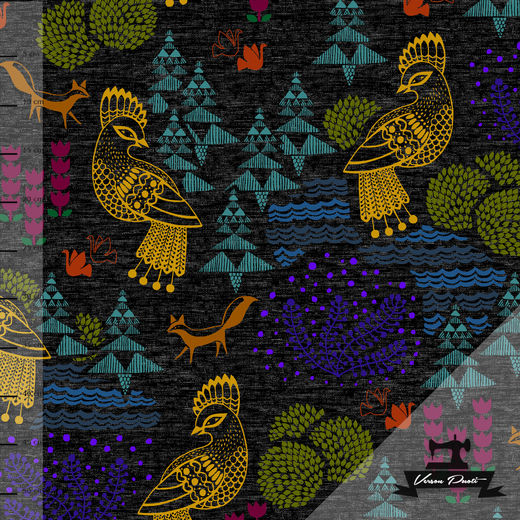 Sielulintu (black/multicolor) digitricot