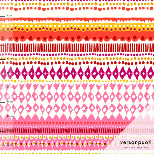 Sukanvarteen (pink/yellow) digitricot