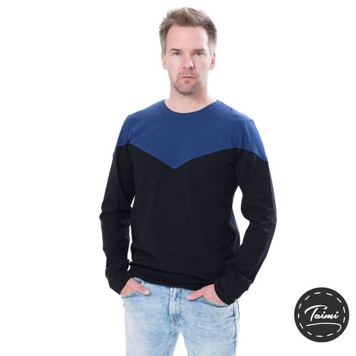 TÄHTIshirt (black/dark blue tricot)