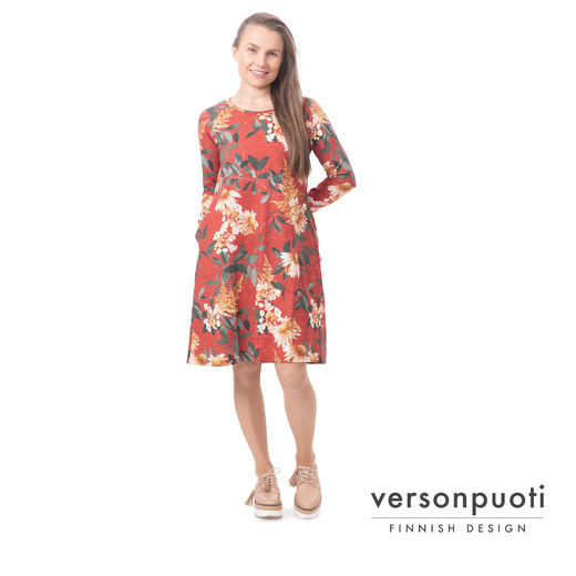 VERSOdress (Punahattu red tricot)