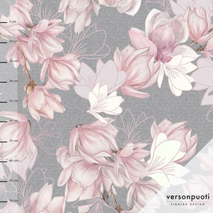 Magnolia (light pink/grey) digitricot, fabric piece